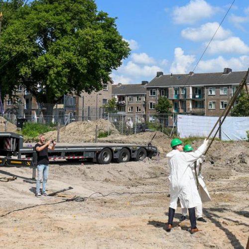 De eerste paal bij project de Harmonie Alphen aan den Rijn - Bouwgroep Horsman & co